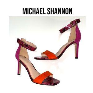 MICHAEL SHANNON Snake print Sandals